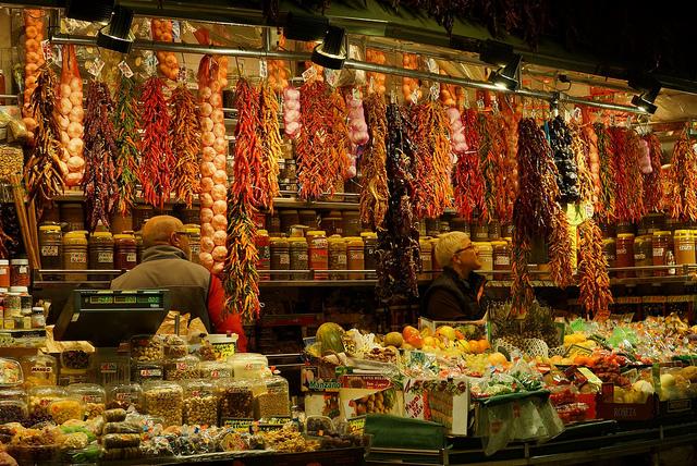 La Boqueria i jej niezwykłe smakołyki, La Rambla Barcelona