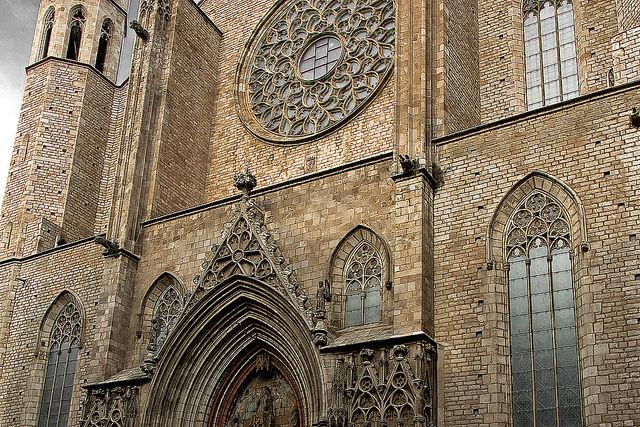 Fasada Santa Maria del Mar, Santa Maria del Mar Barcelona