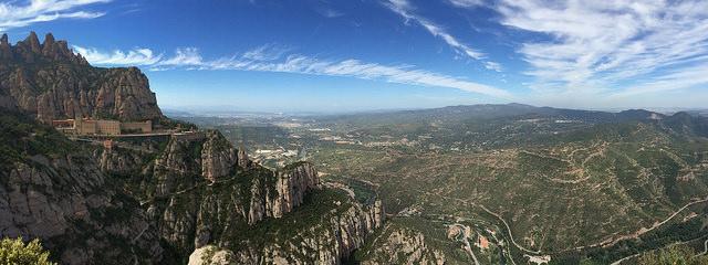 Widok na okolicę, Montserrat Barcelona