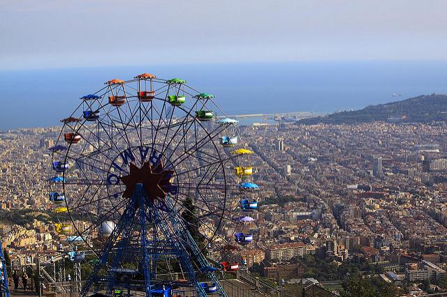 Tibidabo - widok na okolicę, najpiękniejsze punkty widokowe w Barcelonie