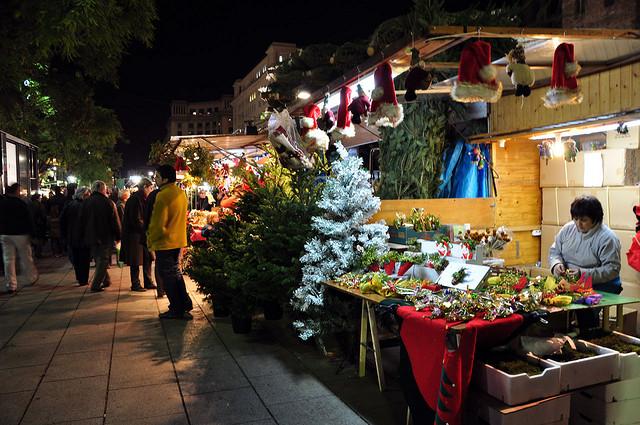 Świąteczny market, Boże Narodzenie w Barcelonie