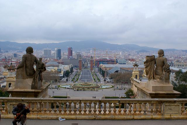Na widokowym tarasie, Muzea w Barcelonie