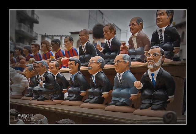 Caganers - hiszpańskie figurki, Boże Narodzenie w Barcelonie