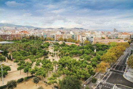 Parki w Barcelonie